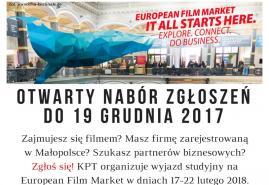 NABÓR OTWARTY NA DOFINANSOWANIE WYJAZDU STUDYJNEGO EUROPEAN FILM MARKET | BERLINALE 2018
