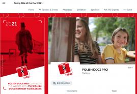 STOISKO I DELEGACJA POLISH DOCS PRO NA TARGACH SUNNY SIDE OF THE DOC ONLINE 2021
